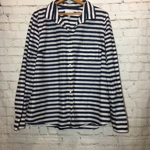 J. Crew Boy fit navy stripe buttondown shirt 14